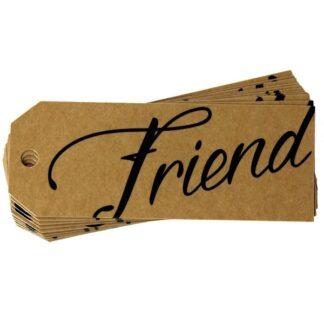 Friend Kraft Gift Tag