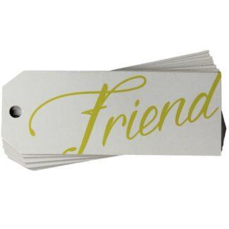 Friend White Gift Tag