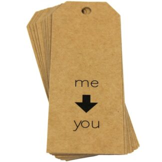 Me to You Kraft Gift Tag