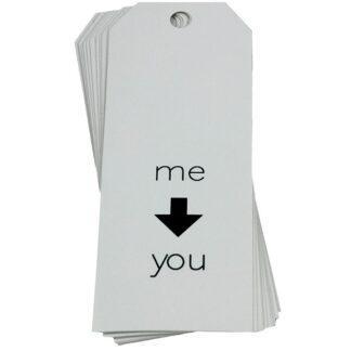 Me to You White Gift Tag