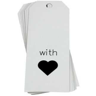 With Love White Gift Tag