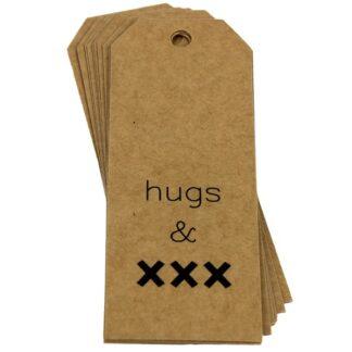 Hugs & Kisses Kraft Gift Tag