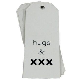 Hugs & Kisses White Gift Tag