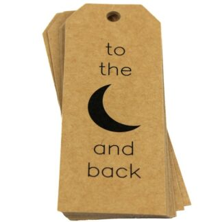 To the Moon Kraft Gift Tag