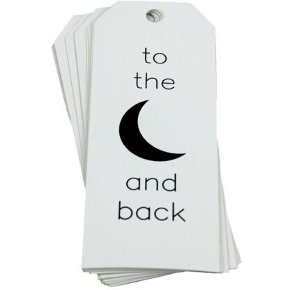 To The Moon White Gift Tag