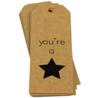 You're a Star Kraft Gift Tag