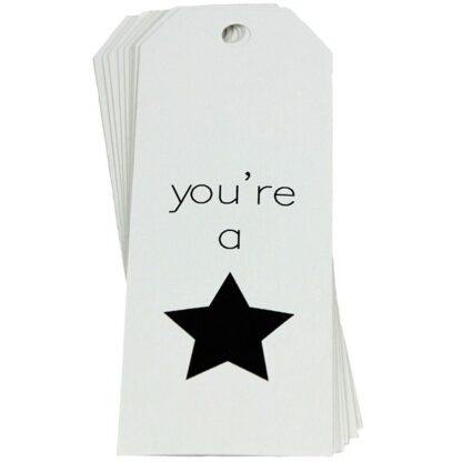 You're a Star - White Gift Tag
