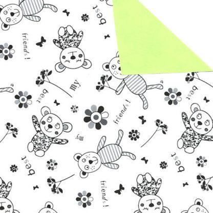 Double Sided Best Friends Wrapping Paper 57cm x 160m