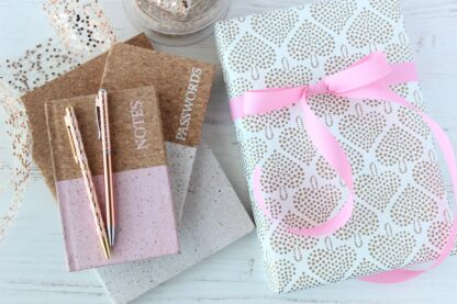 Matte Hearty Wrapping Paper and Matte Ribbon