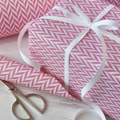 Pink Radar and White Matte Ribbon