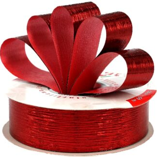 Red Metallic Bouquet Ribbon 31mm