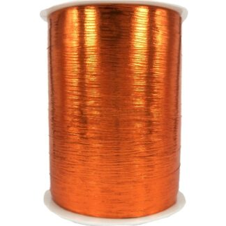 Orange Metallic Bouquet Ribbon