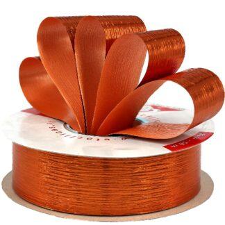 Orange Metallic Bouquet Ribbon 31mm