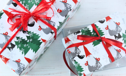 Granliden Wrapping Paper with Bicolour Matte Ribbon