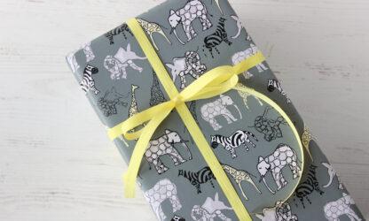 Safari Wrapping Paper and Matte Ribbon