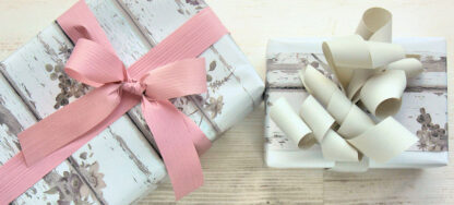 Shabby Roses Wrapping Paper with Matte Ribbon