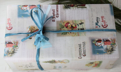 Greetings Wrapping Paper with Raffia