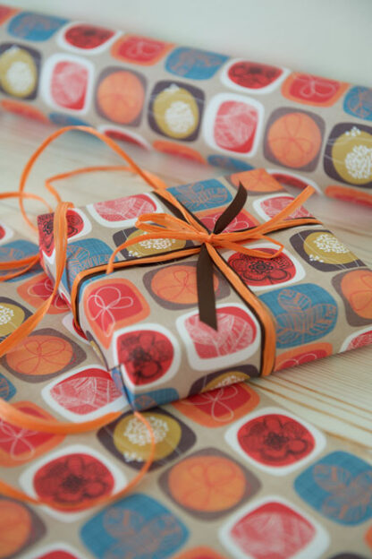 Retro Wrapping Paper and Matte Ribbon
