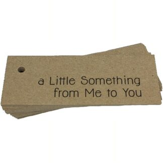 A Little Something Kraft Gift Tag
