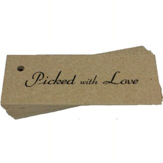 Picked With Love Kraft Gift Tag