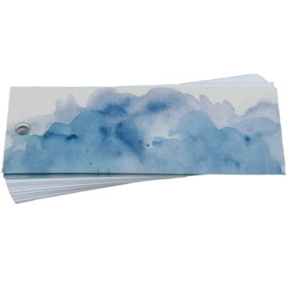 Blue Wash Gift Tag