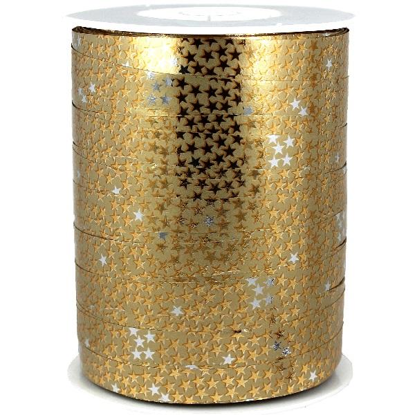 Gold + Gold Stars Metallic Ribbon