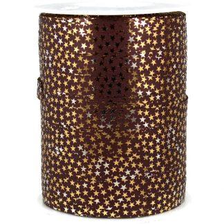 Copper + Gold Stars Metallic Ribbon