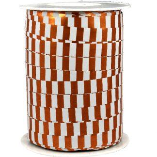 Copper & White Metallic Ribbon