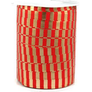 Red & Gold Metallic Ribbon