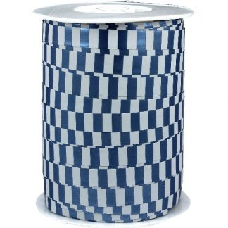 Blue & White Metallic Ribbon