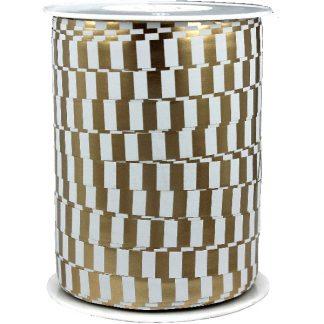 Gold & White Metallic Ribbon