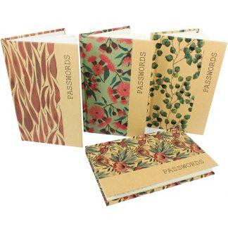 Kraft Password Books - Australian Flora Assorted