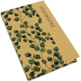 Kraft Password Book - Eucalypt