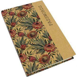 Kraft Password Book - Protea
