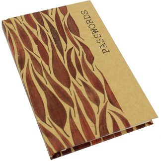 Kraft Password Book - Gum Leaves