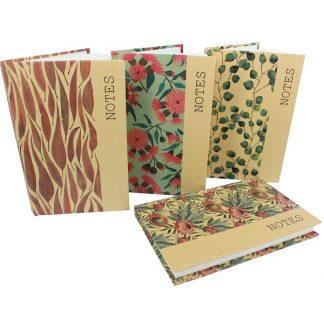 Kraft Note Books - Australian Flora Assorted