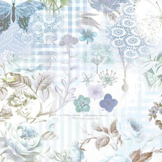 Blue Rose Wrapping Paper 57cm x 160m