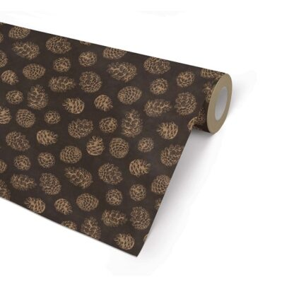 Ribbed Pine Cones Wrapping Paper