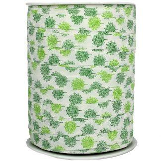 Green Stems Matte Ribbon 10mm