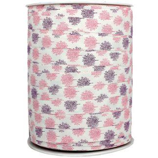 Pink Stems Matte Ribbon 10mm