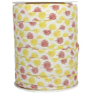 Yellow Stems Matte Ribbon 10mm