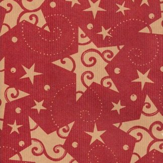 Ribbed Red Starbright Brown Kraft Wrapping paper 57cm x 200m