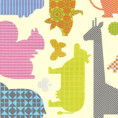 Patchwork Animals Wrapping Paper 57cm x 160m