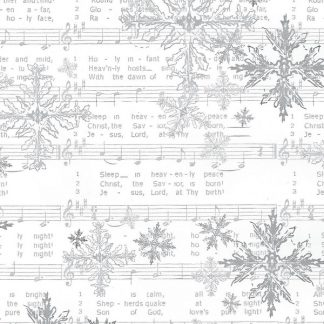 White Silent Night Wrapping Paper 57cm x 160m