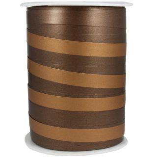 Chocolate + Copper Bicolour Matte Ribbon 10mm