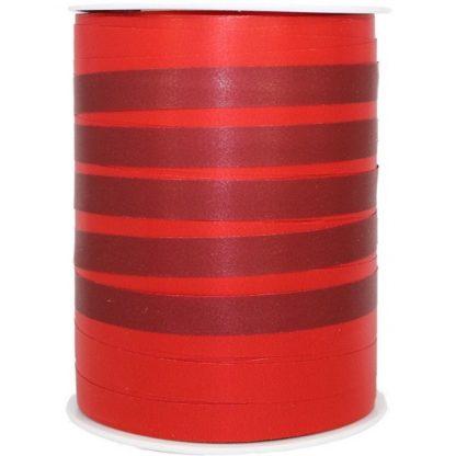 Red Bicolour Matte Ribbon 10mm