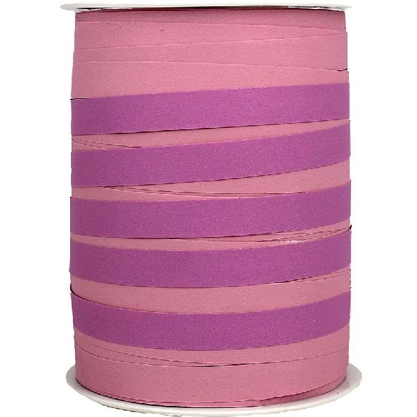 Pink Bicolour Matte Ribbon 10mm