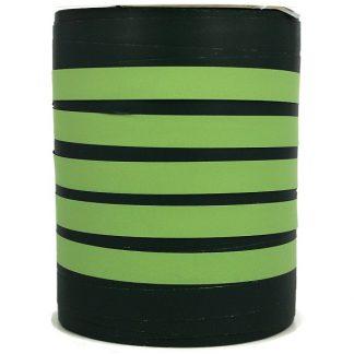 Green Bicolour Matte Ribbon 10mm
