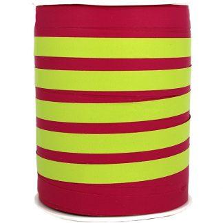 Hot Pink + Lime Bicolour Matte Ribbon 10mm