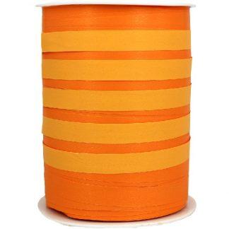 Orange Bicolour Matte Ribbon 10mm